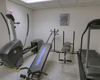 All gym equipment is for sale.