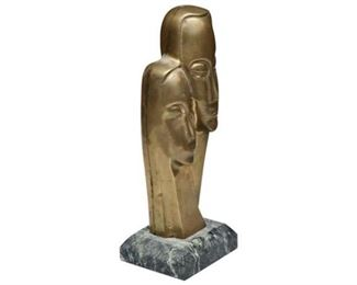 3. Modern Bronze Bust Sculpture