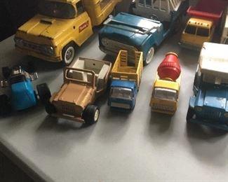 Vintage trucks and cars