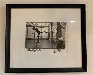 Rare Annie Leibovitz Images from the White Oak Dance Production autographed by Baryshnikov and Mark Morris