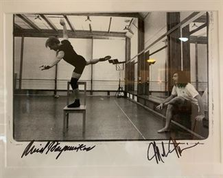 Annie Leibovitz photograph, signed by Baryshnikov and Morris