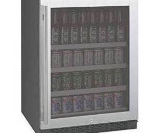 Allavino FlexCount VSBC24-SSRN - 24  Wide Beverage Center - Stainless Steel Glass Door