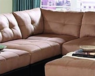 Claude Sectional Wedge with Microfiber Seat