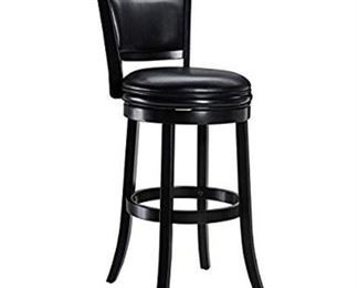 Ball & Cast Jayden Wooden Swivel Bar Stool With Faux-leather Upholstery 29-in...