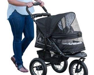 30 in. x 13 in. x 22 in. Dalmatian NV No-Zip Pet Stroller