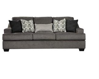 Gilmer Collection 6560339 89 Queen Sofa Sleeper with Plush Chenille Upholstery Memory Foam Mattress and Contemporary Style in Gunmetal