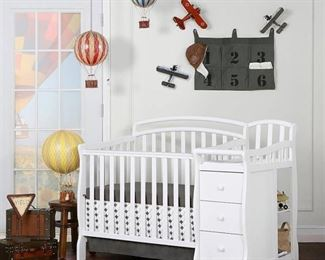 Dream On Me Casco 3-in-1 Mini Crib with Dressing Table Combo, (Choose Your Finish)