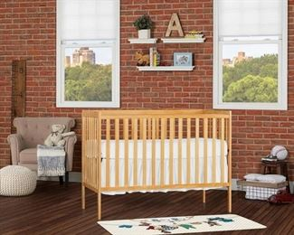 Dream On Me Synergy 5-in-1 Convertible Fixed-Side Crib, (Choose Your Finish)