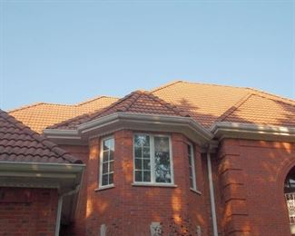 Spanish style concrete roof tiles