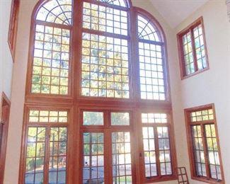 Custom Oak Casement Windows