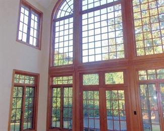 Custom Oak Casement Windows and Oak Doors