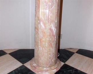 Custom Onyx Pedestal Sink with Backlight