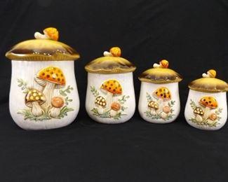 Vintage 1978 Mushroom Jar Set