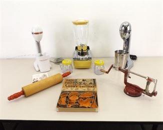 Large Lot of Vintage Blenders and Kitchen Utensils