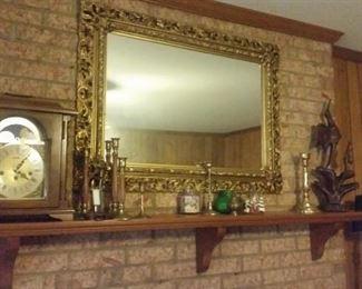 Very nice Mirror, Mantel clock works great