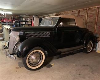 1936 Ford Club Cabriolet  Bidding opens 07/10/2019 Bidding ends 07/21/2019 Starting bid @ $35,000 Please text in bid to: (503) 383-8429 First and Last Name: Bid Amount: Phone # Good Luck.....