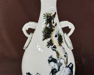Chinese Dehua Porcelain Vase with Elder