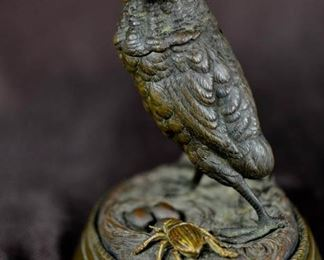 Austrian Bronze Bird Box with Beetle