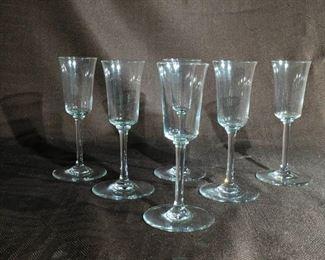 Baccarat Crystal Glasses - Set of Six