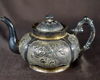 Chinese Export Silver Teaport