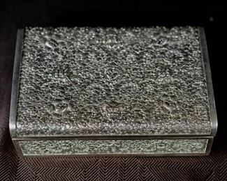Chinese Silver Box with Dragon