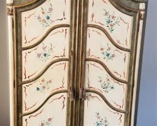 Painted armoire - back is open - makes for great storage or entertainment center