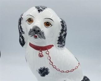 Staffordshire Dog, hand painted RCCL, made in Portugal