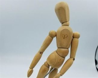 Articulated mannequin with base and flexible body  - about 10 inches tall