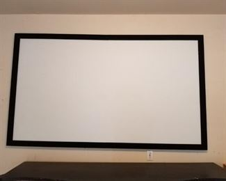 """Movie Screen (located in garage) -92"""" by 56"""""""