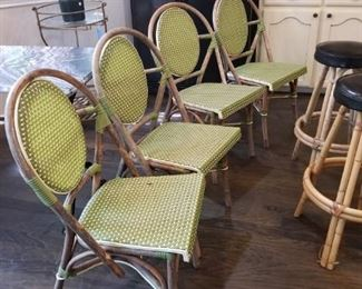 4 kitchen chairs - bent wood