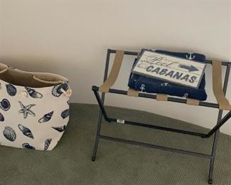Some items from the guest casita for sale with a seashore theme.