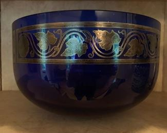 Museum of Fine Arts Cobalt Bowl with Ivy
