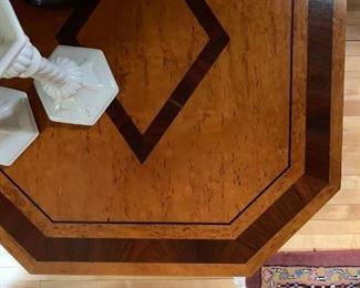 Detail of Inlaid John Widdicomb Stand