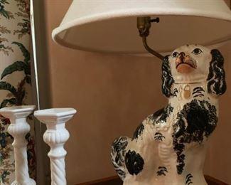 Staffordshire  Dog Lamp
