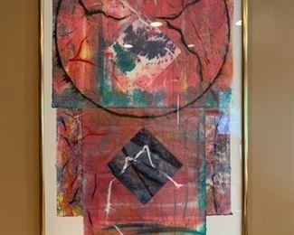 Abstract Kimono, Singed Illegibly, 1987