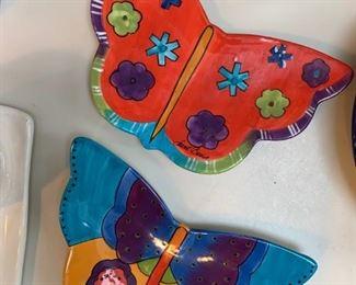Laurel Burch Butterfly Plates