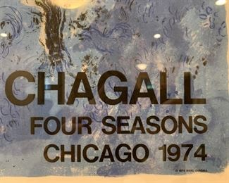 Chagall Four Seasons Chicago Poster, 1974