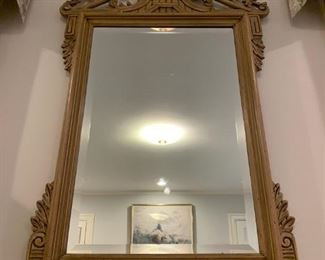 Carved Mirror with Basket Motif