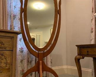 Hand Crafted Teak Wood Floor Mirror