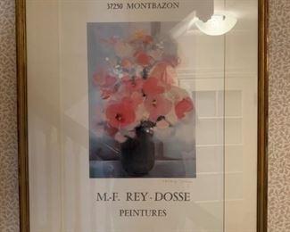M.F. Rey Dosse, Signed Poster