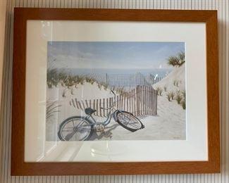 Bike on Dunes Print