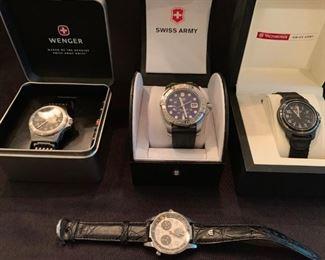 Wegner, Swiss Army, MIchelle, Raymond Weil, Vitorinox, Lacroix Watches