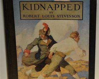 Scribner's Kidnapped Robert Louis Stevenson NC Wyeth Illustrator 1936