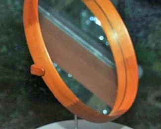 XL MID-CENTURY TEAK TABLE MIRROR by UNO & OSTEN KRISTIANSSON FOR LUXUS
