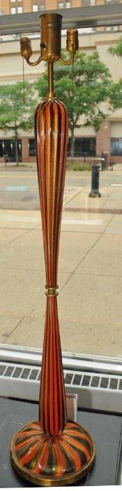 SUPER RARE ~ 1940's Murano Glass Floor Lamp by Seguso