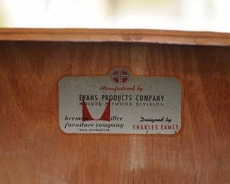 EARLY CHARLES EAMES WITH EVANS PRODUCTS COMPANY ~ HERMAN MILLER LABEL DINING CHAIRS