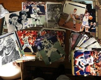 OVER 1000 8X10 SPORTS AUTOGRAPHS - ALL SPORTS!!!