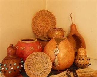Gourds and all the supplies to make them.