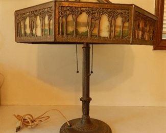 Antique B & H Bradley & Hubbard ornate lamp