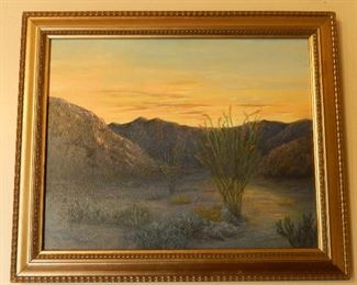 """Original Oil Painting by Arleen Kay Pfeffer """"Borrego Sunset"""""""